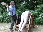 Stripped naked to run laps, Helen Stephens is back over the