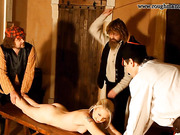 Blonde beauty flogged