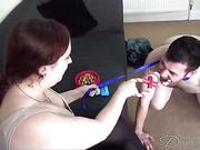 Puppy spanking game