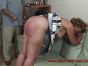 Mature wife got caned