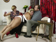 Chubby blonde was paddled