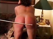 Slut Wife receives Caned