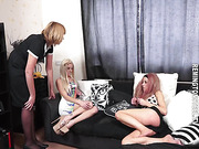 She begins by paddling Lexie on her nude bottom