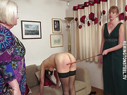 Poor maid Vickie has to bend over another time and despite