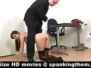 College flogging in stockings