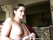 Totally nude Dani Daniels spanked to dramatic tears with a