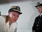 Naval cadet Belinda Lawson soundly spanked bare bottom with