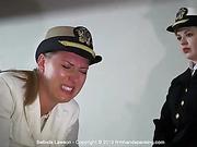 Naval cadet Belinda Lawson soundly spanked bare bottom with