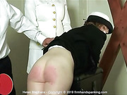 Helen Stephens bare bottom spanking with a ping pong paddle