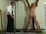 See Belinda Lawson's bouncing bottom take a naval