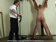 See Belinda Lawson's bouncing bottom take a naval