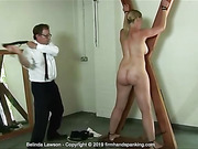 Stripped naked, Belinda Lawson suffers an old-style naval