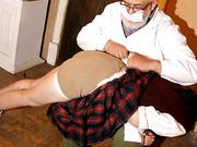 Schoolgirls punishment spank. Marina. P1