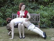 MOMMY'S SPOILED BRAT SPANKED IN JODHPURS