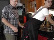 SPANKED AND STRAPPED IN THE KITCHEN