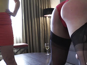 Brittany Spanked Hairbrushed Paddled in Legs Up Position