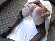 Brittany Spanked Hairbrushed Paddled in Legs Up Position and