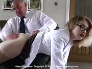 Having her bare bottom spanked in not what Helen Stephens