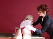 A sound spanking for Lucy Lauren when she oversteps the mark