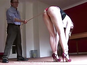 Caned at The Institute - Helen Stephens gets nine testing