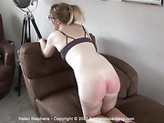 Helen Stephens pays with a spanking for losing important