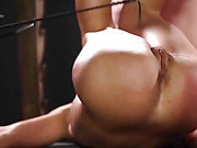 Making the shy lingerie model suck cock