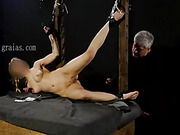Young blonde punished