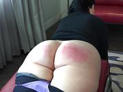 Bare Bottom Belt Whipping For Julie
