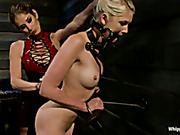 Lesbian dominatrix brutally punished local cutie