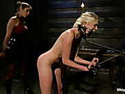 Lesbian dominatrix brutally punished local cutie