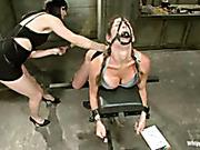 Cruel lesbo sub's revenge on her dominatrix