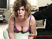 Uncontrollable spanking for big mature ass