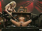 Fisted and punished babe squirts from pain