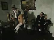 Dominating dude spanked hottie