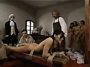 Servant girls got hard punishment with cane