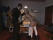 Caught on the neighbor's property girl was caned