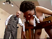 Brutal caning from the master for girl