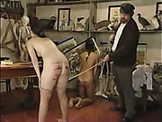 Stripped girl was brutally spanked