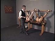 Three sexy girls got high quality spanking