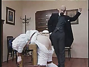 Harsh spanking as punishment
