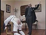 Harsh spanking as punishment