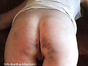 Short-haired college bitch took hardcore caning