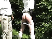 Serious punishment discipline in the wood