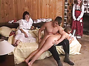 Cruel punishment with spanking to tears