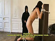 Sexy nun got punishment for playing with herself