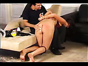 Teen bitches spanked and penetrated by master
