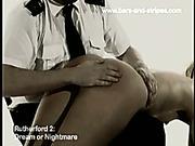 A policeman spanked perverted nude MILF