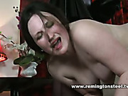Evil nun smiled as spanking young woman