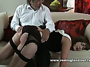 Consistent paddling untill her ass got red