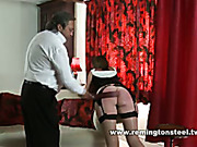 Disgusting old dude spanked cute woman